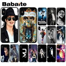 Babaite Michael jackson dance MusicSilicone Telefon Fall Abdeckung für Apple iPhone 8 7 6 6 S Plus X XS MAX 5 5 S SE XR Handys(China)