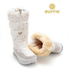 BUFFIEแบรนด์ใหม่2016ในช่วงฤดูหนาวผู้หญิงรองเท้าหิมะสูงANTISKIDแสงแฟชั่นG RILรองเท้าฤดูหนาวซิปขนาดบวกเลดี้หิมะรองเท้า