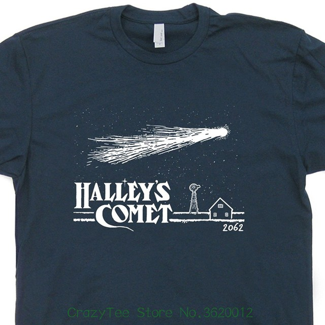 7ecf440f8 Halley's Comet T Shirt Vintage Asteroids Space Saturn Jupiter Science  Invaders Geeky Astronomy Astrology Mens Kids Shirts
