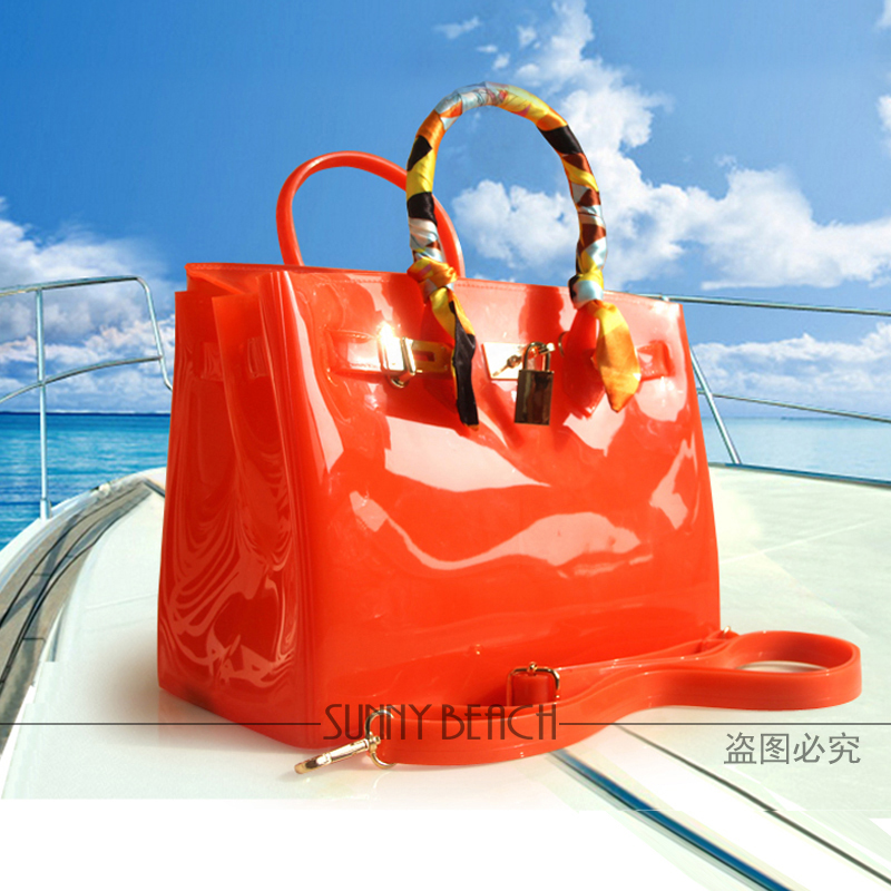 SUNNY BEACH Brand Fashion Female handbags Jelly bags PVC waterproof beach bag tote luxury women bag