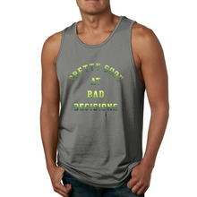 AGARY&EASY Brand New Men Tops Pretty Good At Bad Decisions Men's Tank Tops Hipster CrossFit Sleeveless Tee Men Tanks