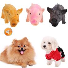 Cute Pig Grunting Squeak Latex Pet Chew Toys for Dog Squeaker Training Products Resistant Puppies Small Dogs