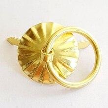 50pcs 1.9cm Gold Brass Color Metal Handle Small Wholesale Little Tin Drawer Casket Wooden Box Case Door Fix Factory Direct Sale