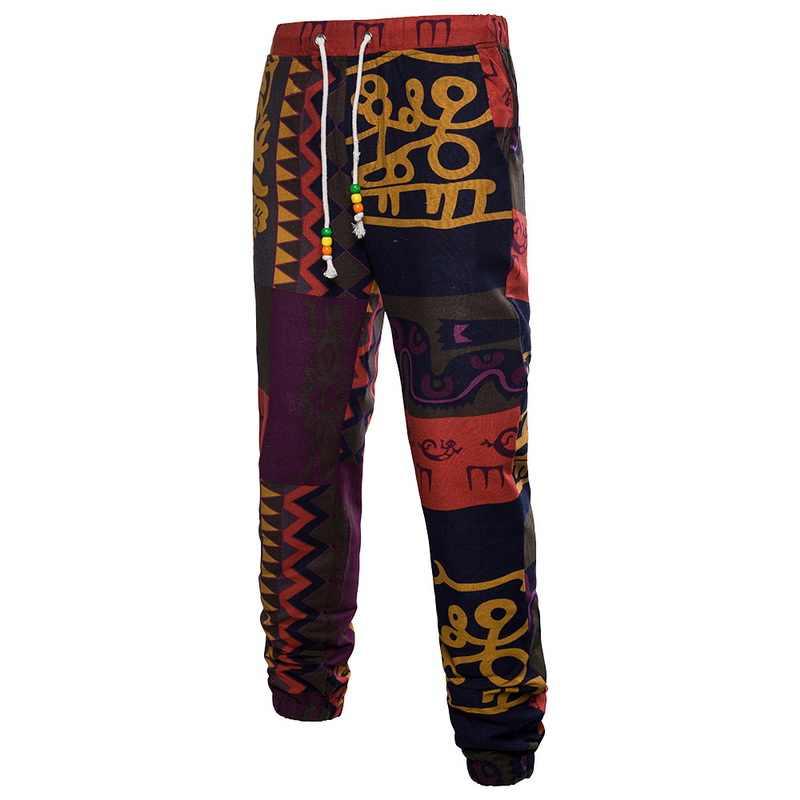 nouveau style 827f8 f984c New Floral Print Pants Men Luxury Brand Drawstring Long ...