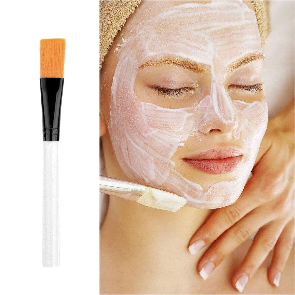 Transparent Handle Facial Face Mud Mask Mixing Brush Cosmetic Makeup Kit p#
