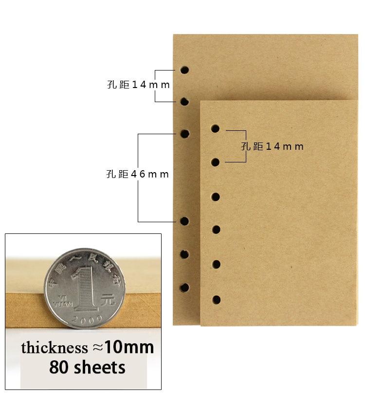Papel de relleno de cuaderno vintage RuiZe Carpeta de anillas 80 - Blocs de notas y cuadernos - foto 5
