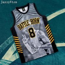 f4605b70f01 men bryant battle born 8# 24# retirement souvenir edition basketball  jerseys set Heat tranfer
