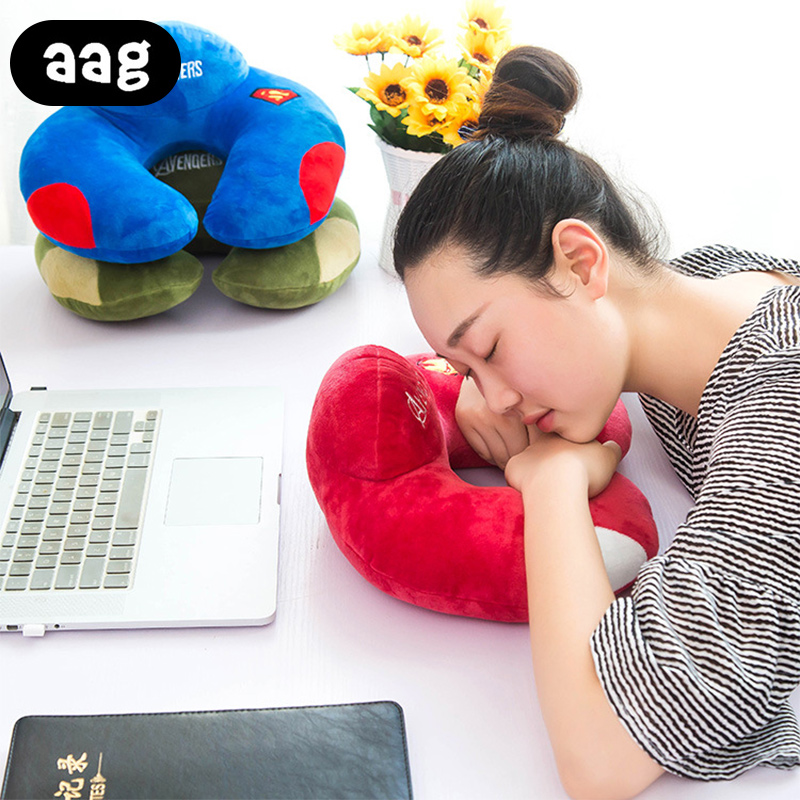 AAG Cartoon Travel Pillow Plush Comfortable U Shape Neck Pillow Car Head Rest Neck Pillow Cushion Travel Home Office Accessory in Decorative Pillows from Home Garden