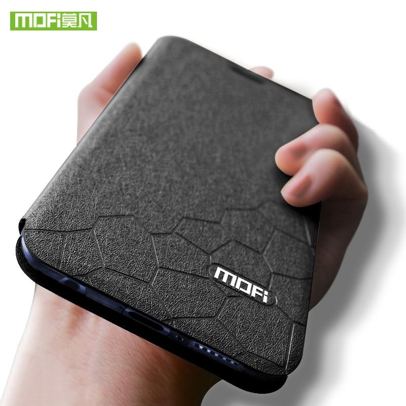 Para Huawei honor 8X para Huawei honor 8X Max funda abatible silicona Mofi lujo PU cuero honor8x funda para Huawei honor 8X Max funda