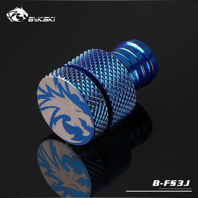 "Bykski B-FS3J End Plug for 3//8/"" Flexible Tube Silver"