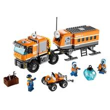 Orange City Arctic Outpost truck Building Blocks compatible with  city 3D figure brick Educational Toys For Children