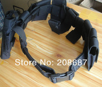 Security Tactical Waist Belt Guard Utility Kit Tactical Belt With Pouch System Black