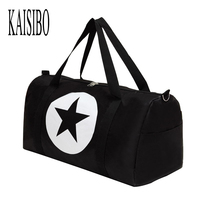 2016 New Men And Women Travel Bag Large Five Pointed Star Nylon Material Waterproof Large Capacity