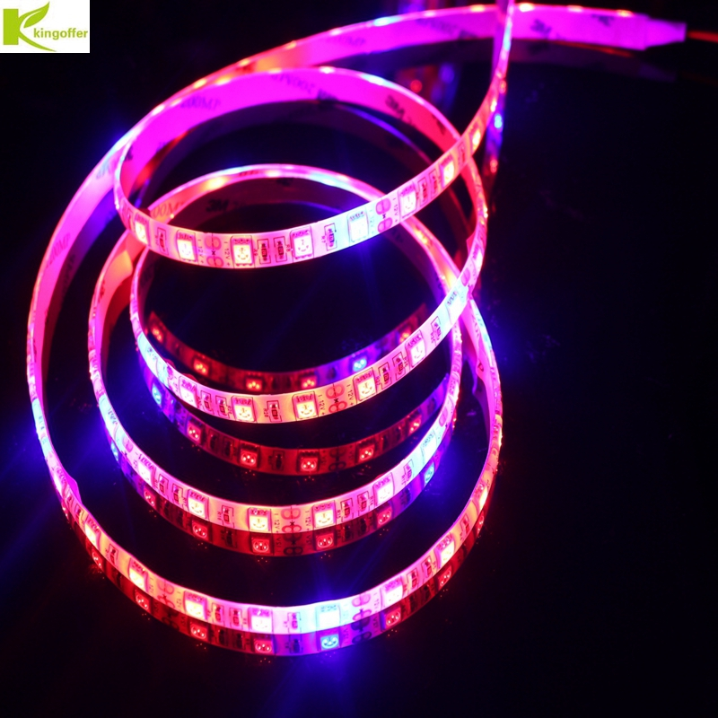 Kingoffer Waterproof 5m Plant Grow Light 5050 60leds/m LED Strip DC12V Red:Blue 3:1 4:1 5:1 for Greenhouse Hydroponic Plant