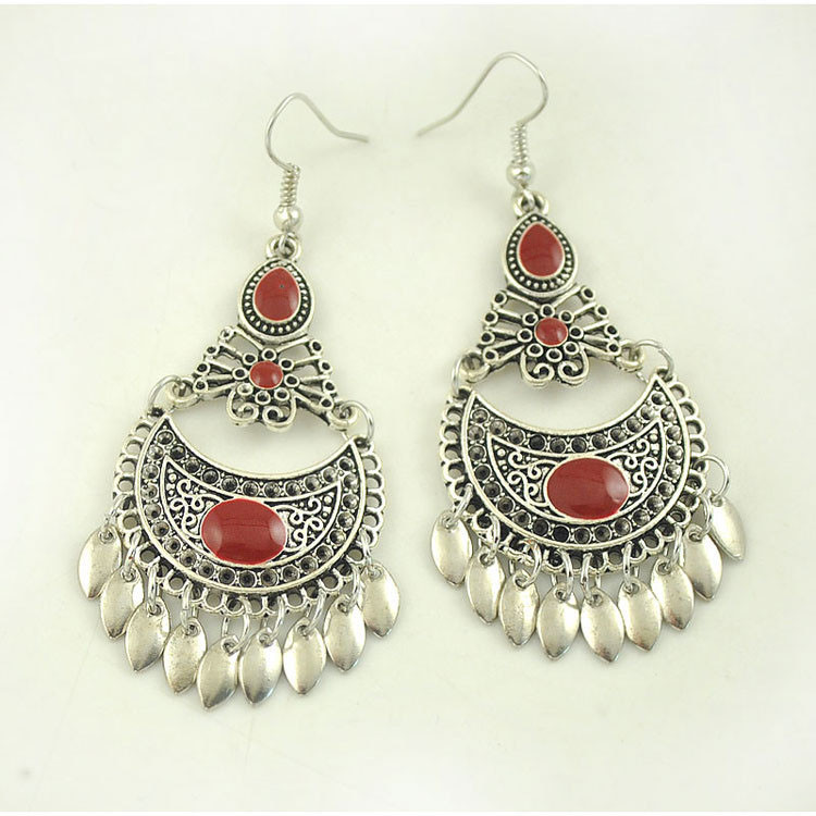 Red and black earrings Niani Bijoux 33wdsSlFd
