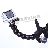 Hot Sell GoPro Adjustable Jaws Flexible Arm Flex Clamp Clip Universal Mount Go pro Interface fully for GoPro Hero 4 3+ 3 2 1