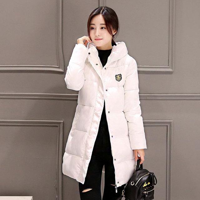 Nueva chaqueta de Invierno Prendas de Abrigo Delgado Con Capucha Down Jacket Mujer Caliente Abajo Escudo Mujeres Ultraligero Pato Blanco Abajo Parkas