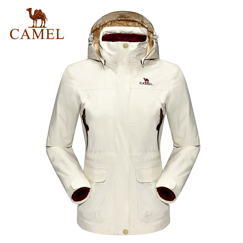 Camel Women's Winter 2 pieces Softshell Fleece Jackets Outdoor Sports Waterproof Thermal Hiking Skiing Female Coats A6W170141 стоимость