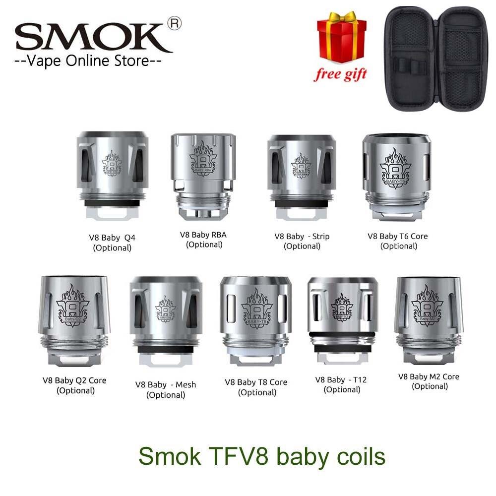 Original Smok TFV8 Baby Coil Head V8 Baby T8 T6 X4 Q2 Q4 M2 Core For TFV8 big BABY Tank V12 baby prince tank