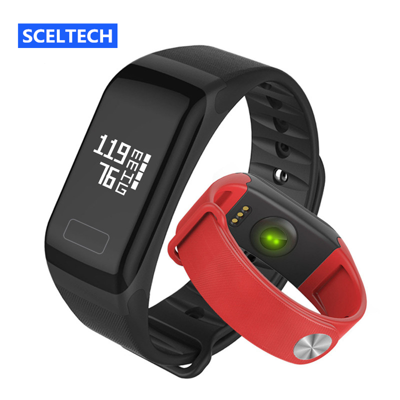 SCELTECH F1 Smart Wristband Heart Rate Monitor Fitness Tracker Bracelet With Sport IP66 Waterproof OLED Screen For Android & IOS