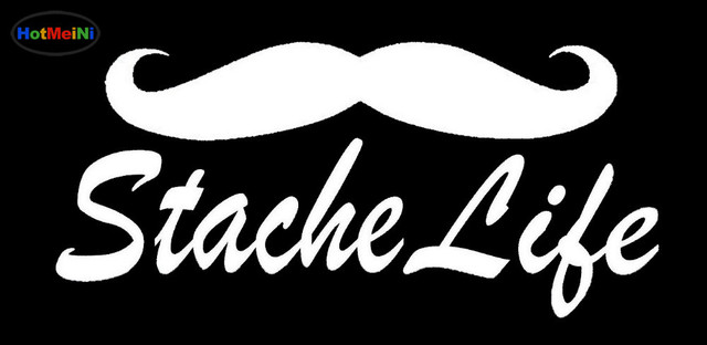 Hotmeini graceful jdm stache life mustache sticker for car window truck door motorcycles vinyl decal funny