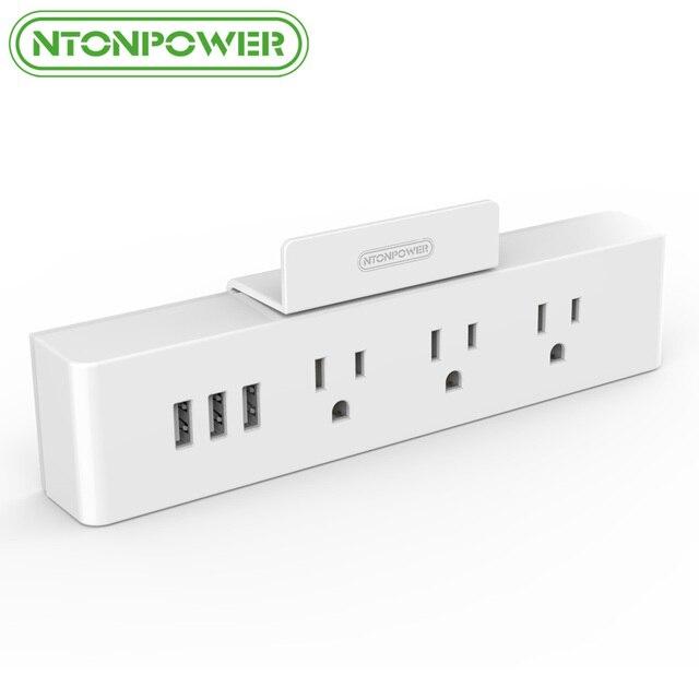 NTONPOWER MNC Wall Mounted USB Power Socket US Standard Electrical ...
