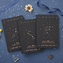 Constellation Gilding Notebook Journal Note Book Refiller Paper Planner Diary Cute Stationery creative literary notebook stationery nostalgic youth diary book hardcover horizontal line paper planner dd1352
