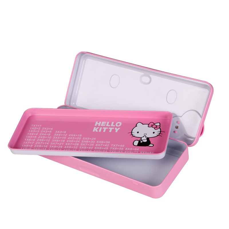 10PCS LOT Metal Catoon Pink Hello Kitty Pencil Box For Girls Birthday Gifts Party Kindergarten Stationary Red Case Girl In Favors From Home