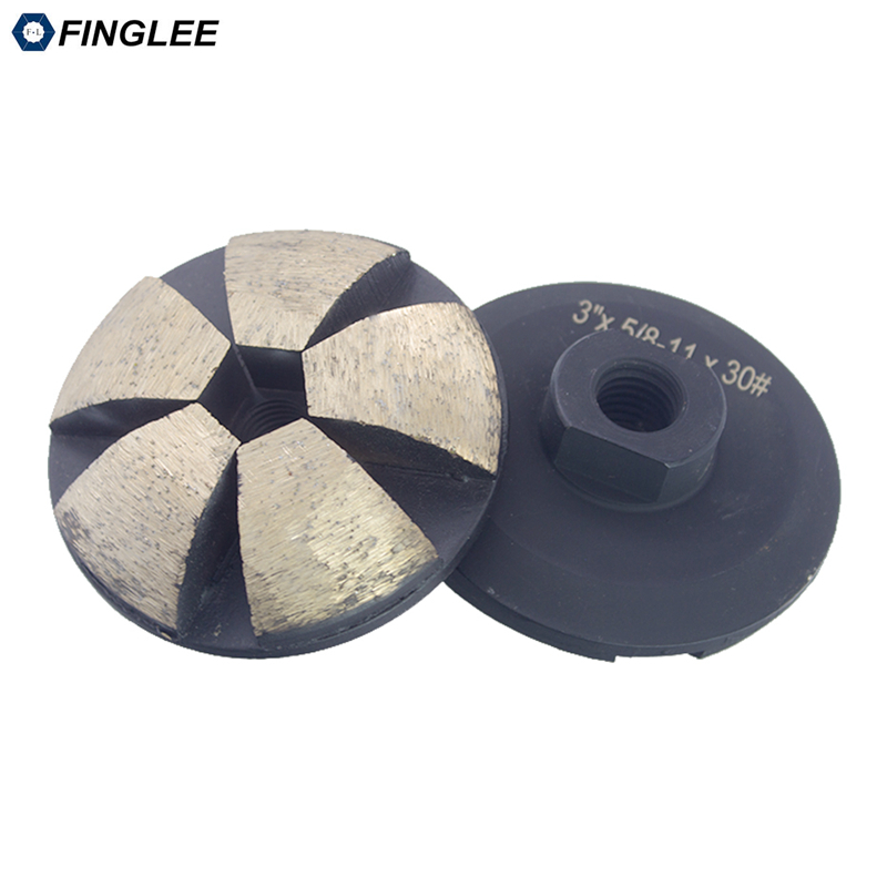 FINGLEE 3inch 4inch Thread m14 5 8 11 Curve grinding diamond grinding cup wheel abrasive wheel