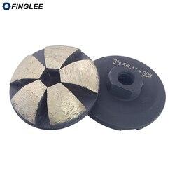 FINGLEE 3 cale/4 cale  gwint m14 5/8-11 krzywa szlifowanie diamentowe szlifowanie garnkowe tarcza ścierna koła poziomujące