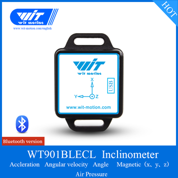 Bluetooth 4.0 Inclinometer,WT901BLECL Accelerometer+Gyro+Digital Compass(XYZ,Low-Consumption IMU),Compatible with PC/iOS/Android
