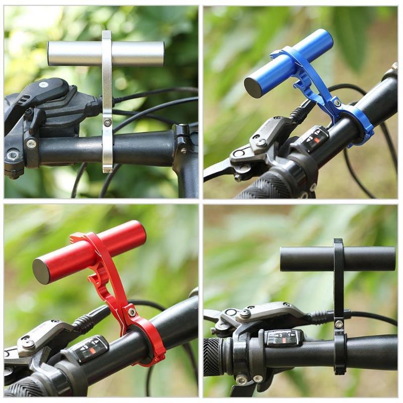 Carbon Fiber Bicycle Handlebar Extended Bracket CNC Extension Headlight Mount Bar Computer Holder Lamp Support Extender 5 Colors