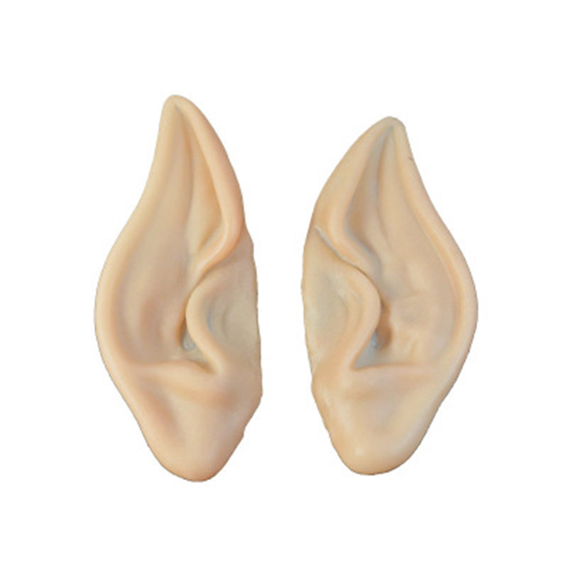Latex Soft Pointed Tips False Ears Props 1Pair Mysterious Angel Elf Ears Fairy Cosplay Accessories Halloween Christmas Party Ear