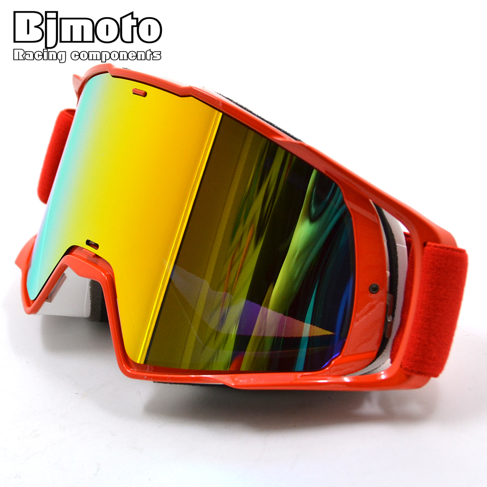 BJMOTO Motocross Goggles Glasses Oculos Off Road Dirt Bike DustProof Racing Glasses Anti Wind Eyewear MX Goggles