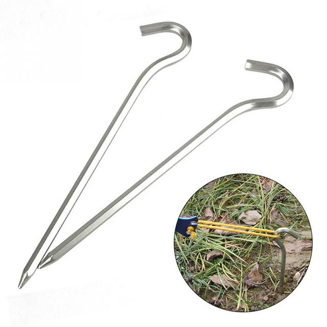 4Pcs Aluminum Alloy Tent Pegs Stakes Hook Pin Tent Nail Outdoor C&ing Hiking Trip Essential Tool  sc 1 st  AliExpress.com & 4Pcs Aluminum Alloy Tent Pegs Stakes Hook Pin Tent Nail Outdoor ...