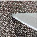 Três dedo cortado dedo de protecção à prova de soldagem luva açougueiro aço inoxidável luva anti corte luva resistente corte nível 5