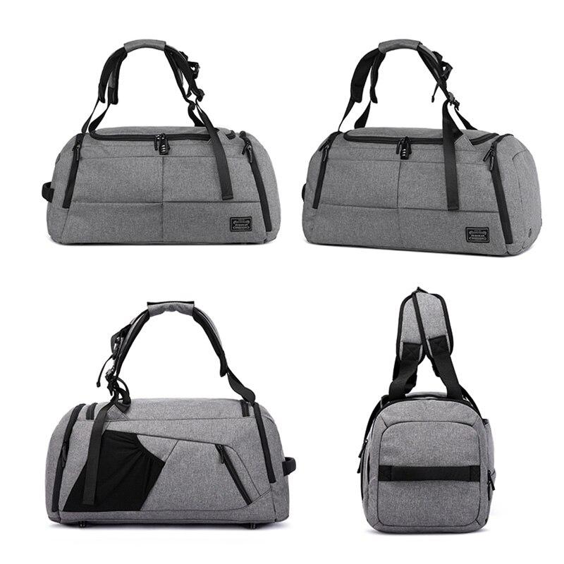 15 inchMultifunction hombres mujer bolsa de Deporte Fitness bolsas mochilas para portátiles de mano de viaje con zapatos bolsillo Yoga bolsa de deporte - 5