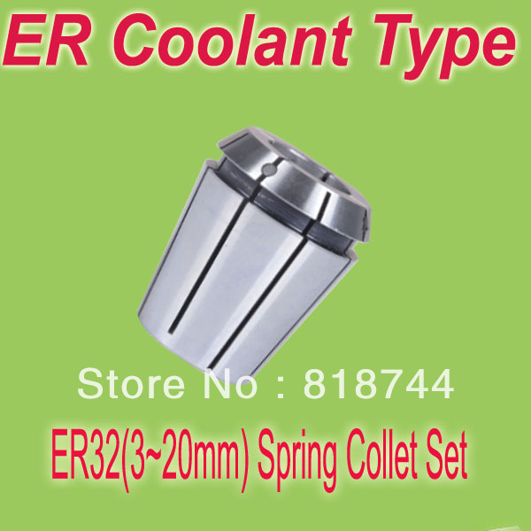 Free Shipping 4 Pcs. Techniks ER 32  3mm To 20mm X 1.0 Mm Sealed Coolant Metric CNC Collet Set