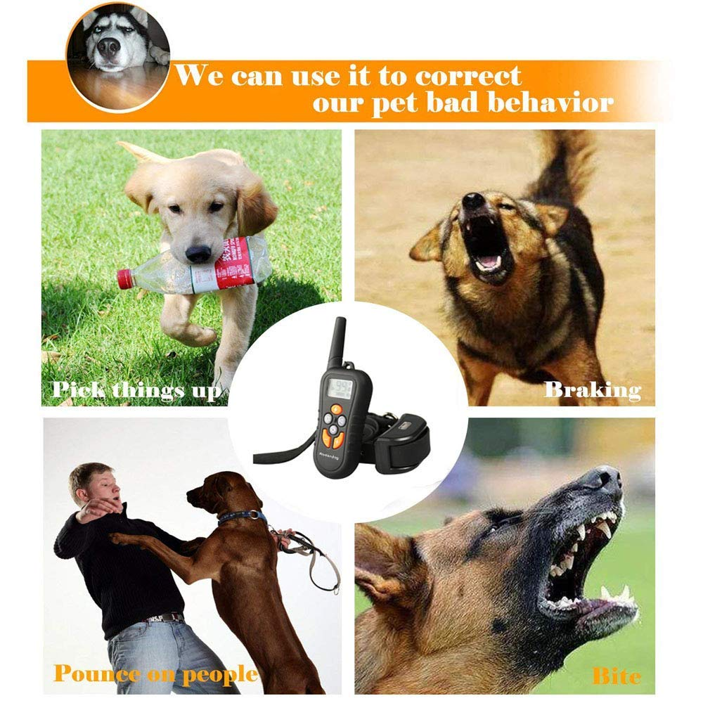 Wodondog-Dog-Training-Collar-Electric-Shock-Collar-For-Dogs-Waterproof-Remote-Rechargeable-Bark-With-Behavior-Training