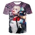 3D T-shirt Suicide Squad Harley Quinn Joker Anime T Shirt 2016 New Harajuku Cartoon Character Full Printed Tee Tops Wholesale