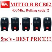 Free shipping !!! (5pcs) 433mhz BFT MITTO 2 Gate remote control keyfob transmitter