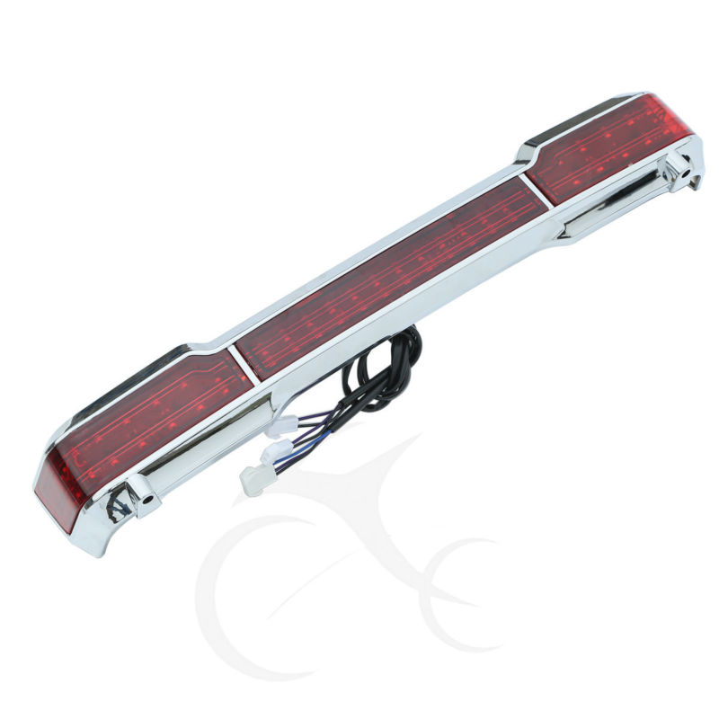 Chrome LED Tail Brake Light Accent for Harley Touring Trunk King Tour Pack Wrap Electra Glide 1997-2008 motorcycle palazzo d oro