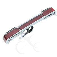 Chrome LED Tail Brake Light Accent for Harley Touring Trunk King Tour Pack Wrap Electra Glide 1997 2008 motorcycle