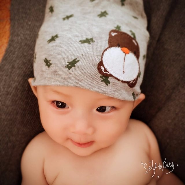 4f51467ee Retail 0-1 years old boys and girls summer spring baby hats, cotton blend  animal printed infant Children's cap knitted hats