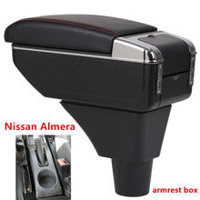 For Nissan Almera Armrest box central Store content box with cup holder ashtray with USB interface(China)