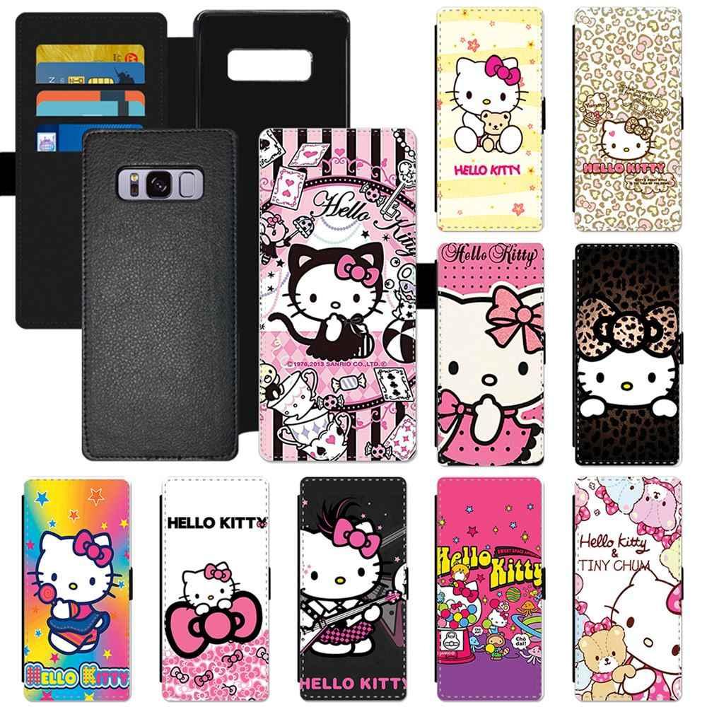 386ef71fe Cartoon Hello Kitty Fashion Popular Pattern PU Leather Flip Wallet Phone  Case For Samsung Galaxy S6