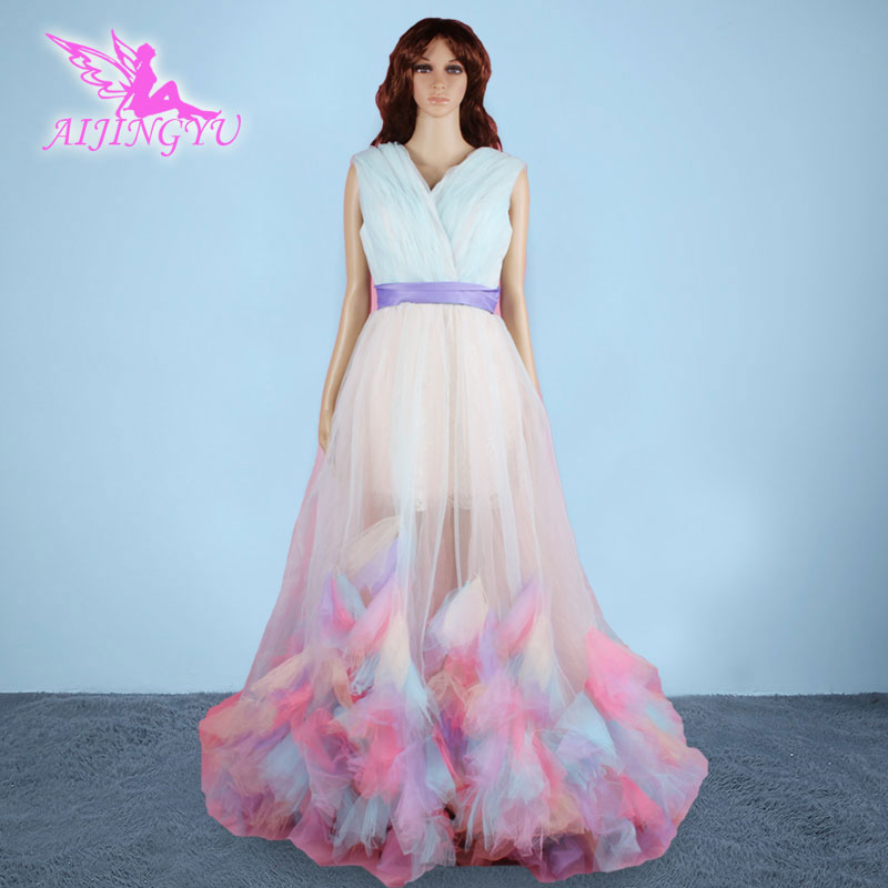 AIJINGYU 2018 new free shipping sexy women girl color wedding dresses luxury colorful real photo pregnant