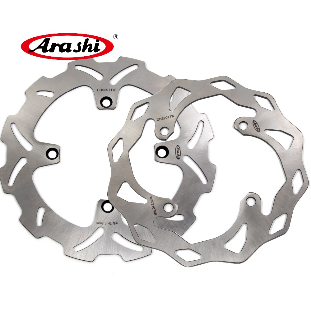 ARASHI For KAWASAKI KX450F CNC Front Rear Brake Rotors Brake Disc KX 450F 2006-2014 2007 2008 2009 2010 2011 2012 2013 KLX450R for kawasaki zx10r 2006 2015 2007 2008 2009 2010 2011 2012 2013 2014 red