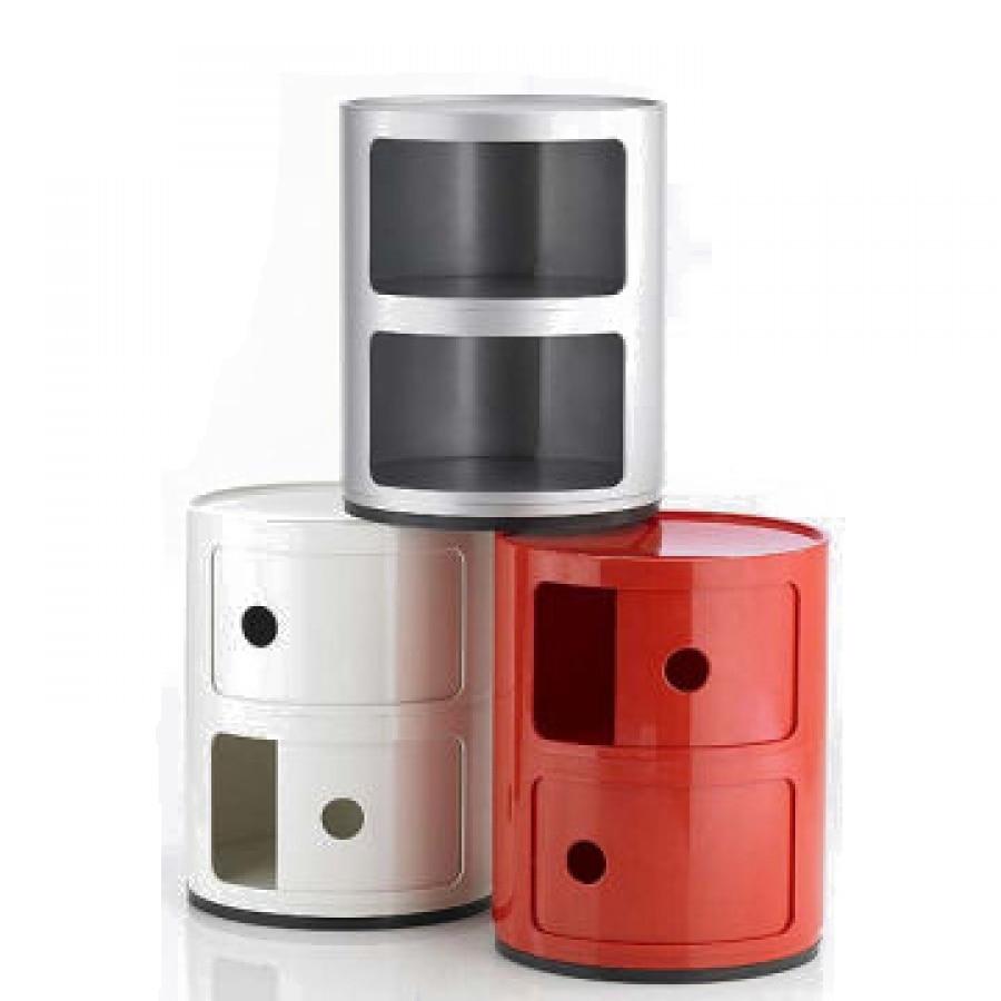 Armoires de rangement classiques rondes en plastique au Design moderne minimaliste, petit rangement multifonction avec tiroir, table de chevet 1 PC