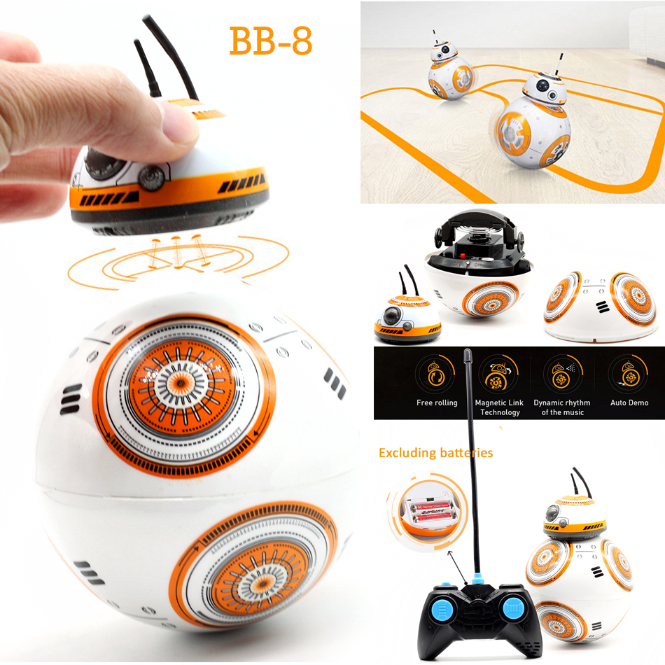 High-quality BB-8 Ball Star Wars RC Action Figure BB 8 Droid Robot 2.4G Remote Control Intelligent Robot BB8 Model Kid Toy Gift 2 4g remote control bb 8 robot intelligent bb 8 ball toy upgrade rc bb8 robot with sound and dancing action figure gift toys